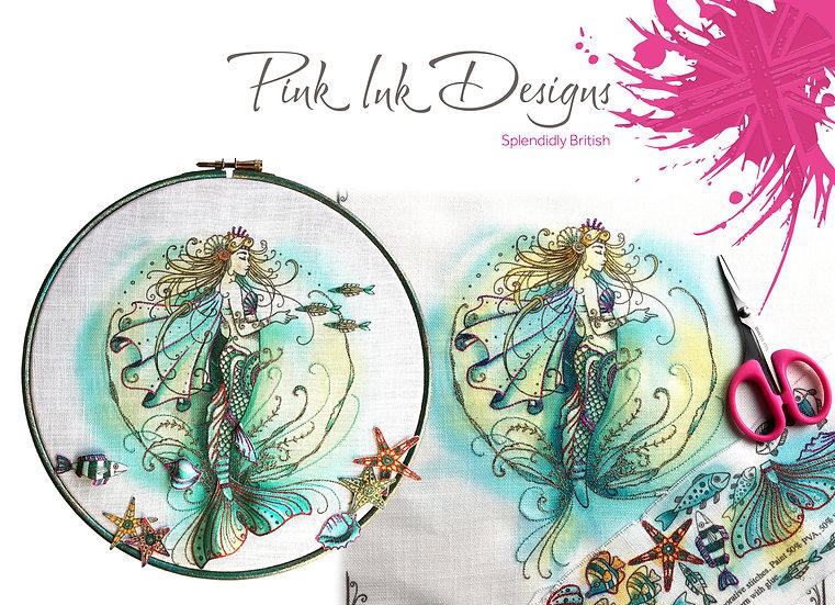 Pink Ink Designs Fabric Panels - Mermaid