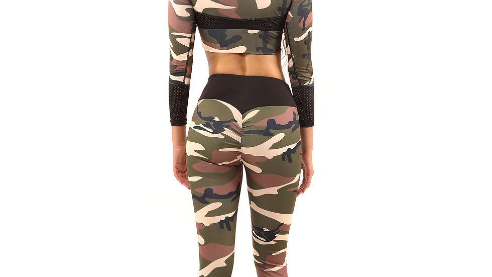 Virginia Camouflage Leggings - Brown/Green