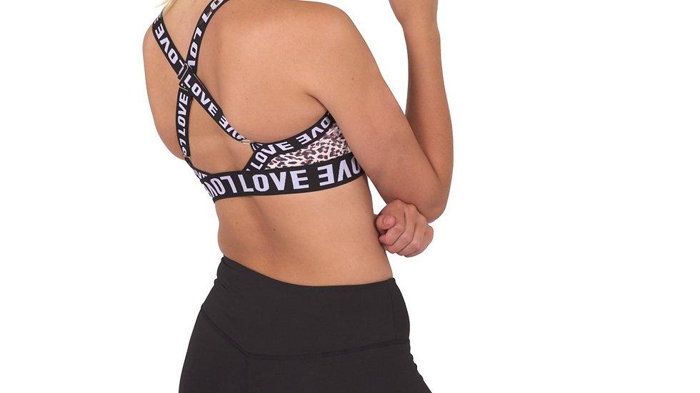 Jordena Workout Sports Bra - Leopard Print