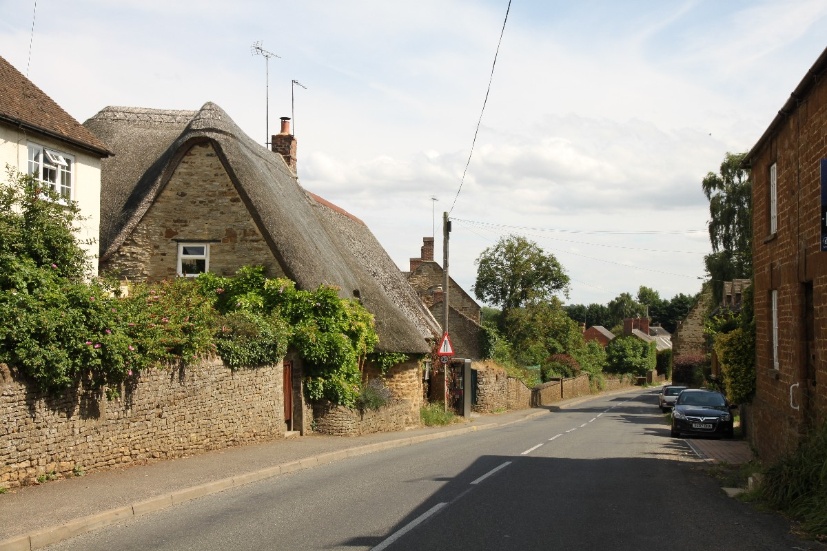 Photograph of main street through Tadmarton village