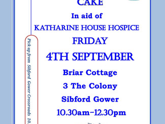 Coffee and Cake in aid of Katherine House Hospice