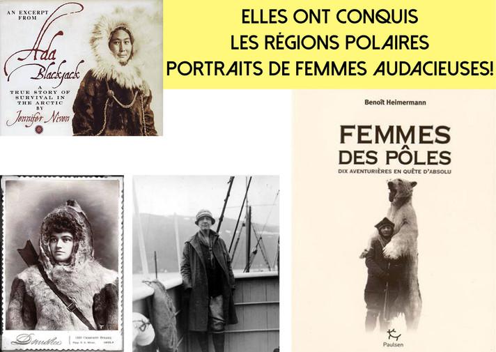 """""""Femmes des pôles"""", un livre hommage aux femmes qui ont su briser la glace et les idées re"""