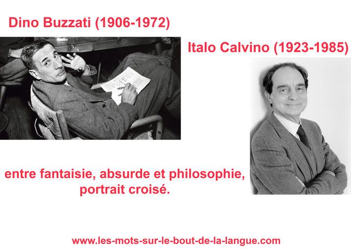 Dino Buzzati, Italo Calvino, portrait croisé