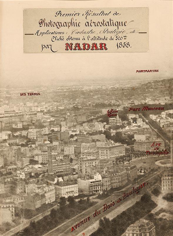 Première photographie aérostatique, Nadar, 1858