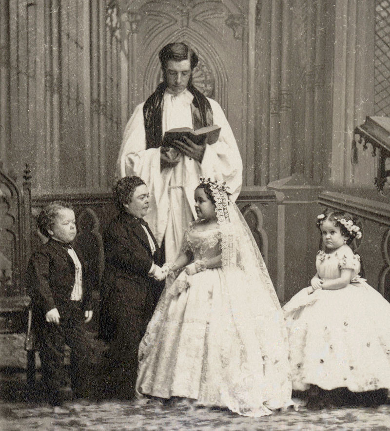 Mairage de Charles Sherwood Stratton et Lavinia Warren en 1863