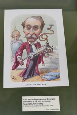 Caricature de Georges Dieulafoy