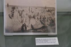 Photo des tranchées des fouilles