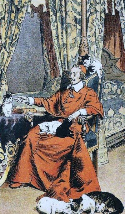 Le Cardinal Richelieu et ses chats