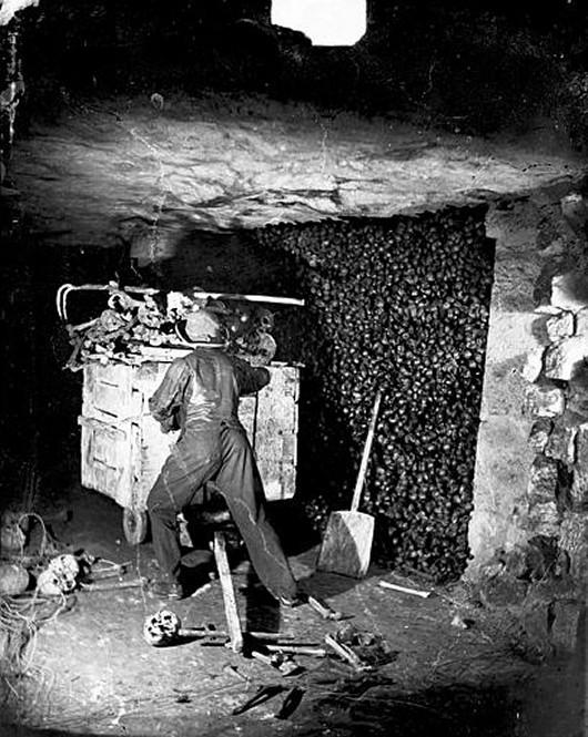 Les catacombes de Paris, Nadar, 1865