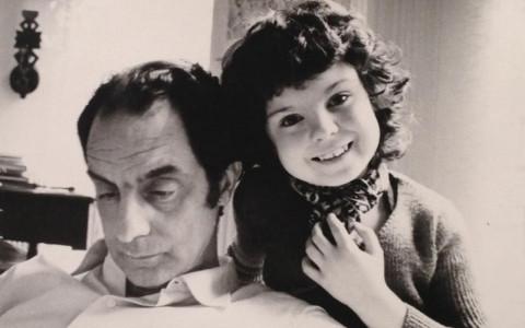 Italo Calvino et sa fille