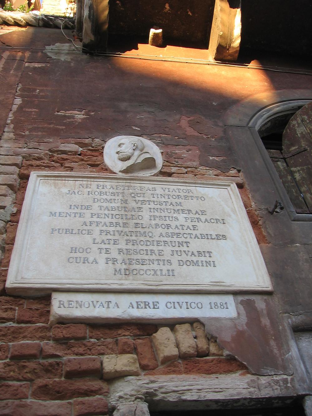 Maison du Tintoret à Venise