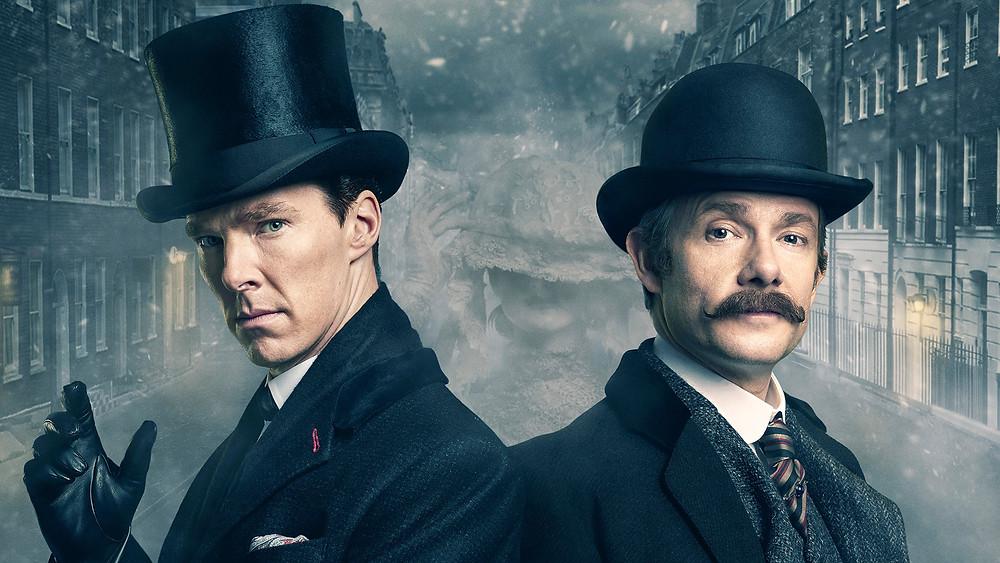 Sherlock et Watson, Benedict Cumberbach et Martin Freeman