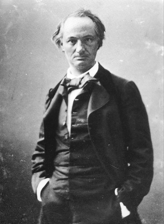 Charles Baudelaire par Nadar vers 1855