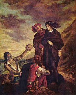 Le prince du Danemark Hamlet, tableau de Delacroix