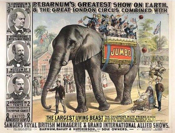 Le Barnum greatest show dont Jumbo est la vedette
