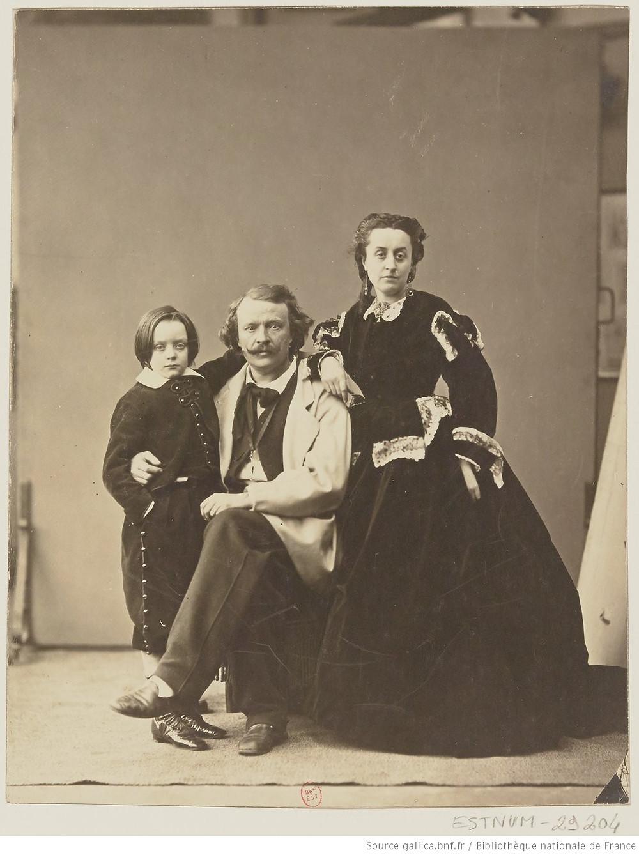 Félix Tournachon, sa femme Ernestine et son fils Paul, 1864, BNF