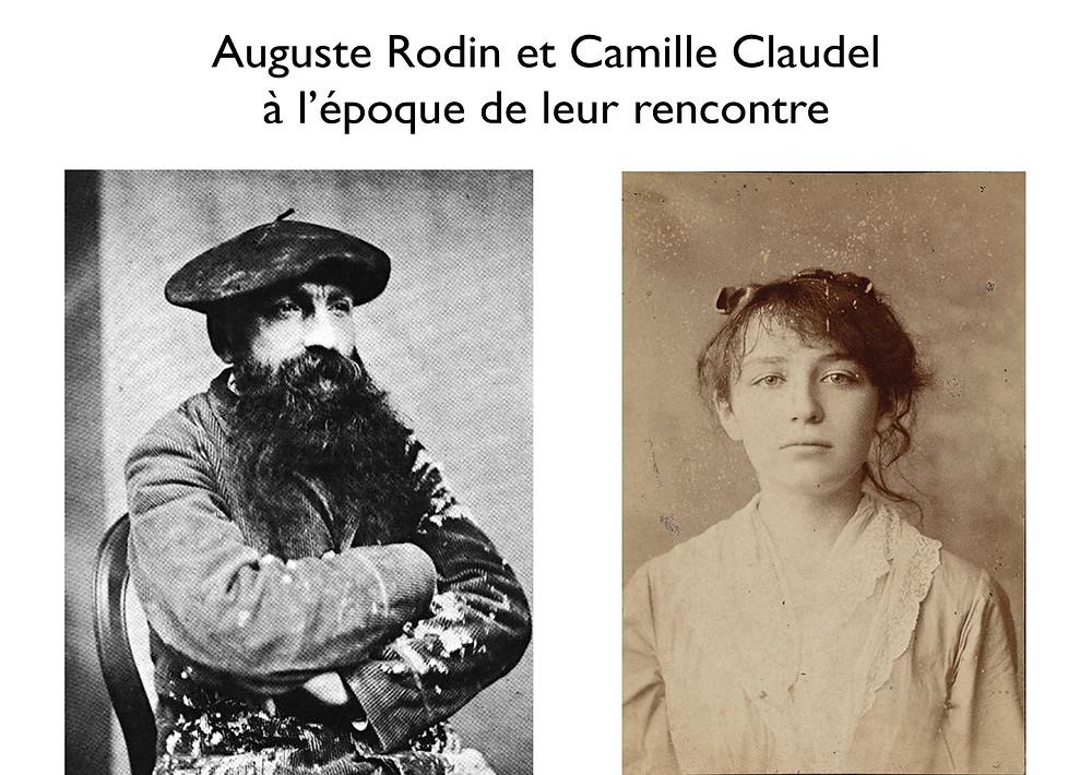 Rodin à 40 ans et Camille à 20 ans