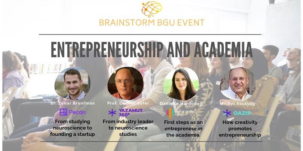 Entrepreneurship & Academia - BrainstormBGU