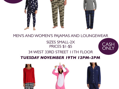 Men's and Women's Sample Sale!