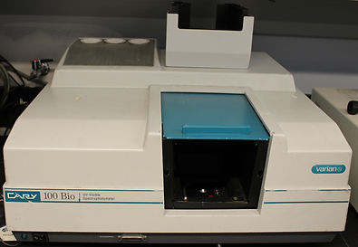 Cary 100 UV/vis spectrophotometer with temperature control