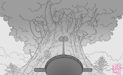 KIP120_AurumColosseum_TreeGoldDoorErupti