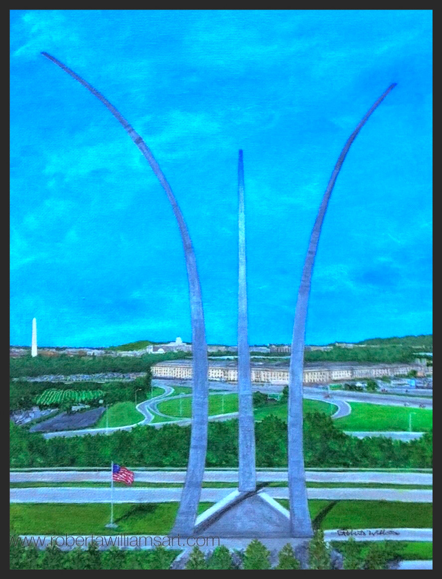 Painting of the Air Force Memorial