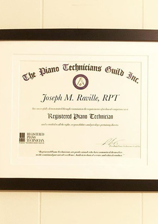 Officially a Registered Piano Technician