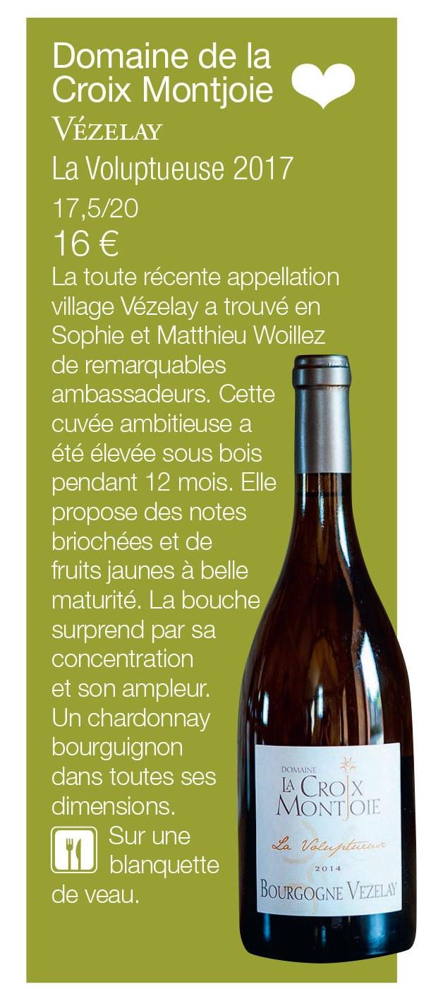 La Voluptueuse 2017, Coup de Coeur du magazine Terre de Vins