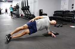 Side plank work with Darryl