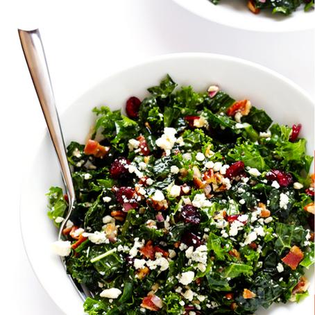 Roasted Grape, Bacon & Kale Salad
