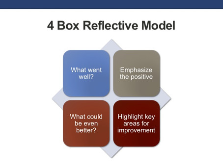 How To Give Effective Feedback At Work – Use The Four Box Reflective Model