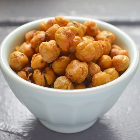Easy Protein Filled Snack - Roasted Chickpeas