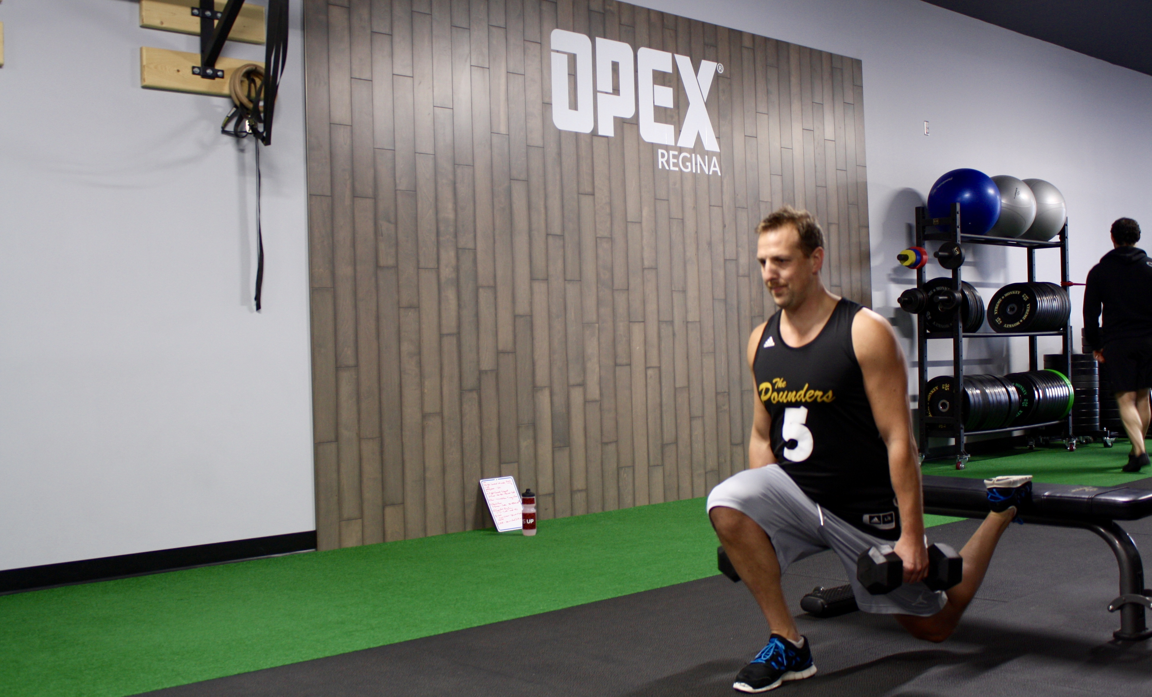 Andrew getting his reps in