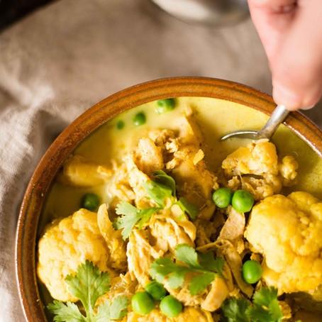 Slow Cooker Chicken Cauliflower Curry