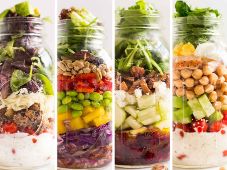 Salad in a Jar - 4 Ways