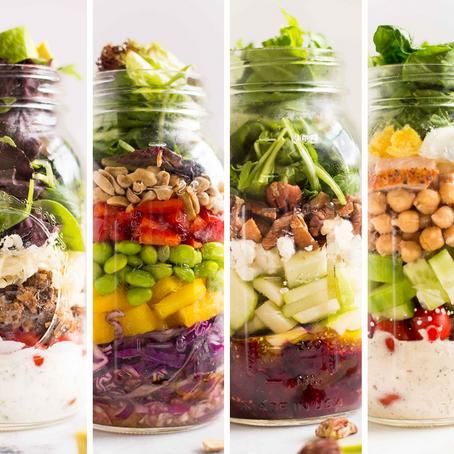 Salad in a Jar - 4 Ways