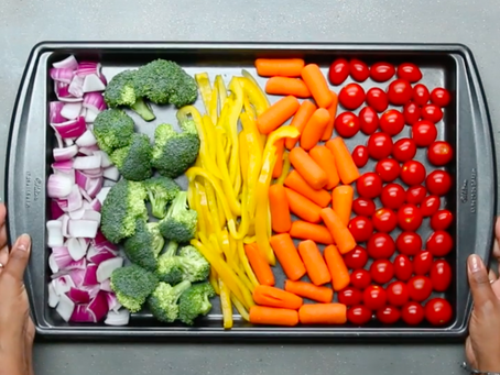 Foil Pack Chicken & Rainbow Veggies