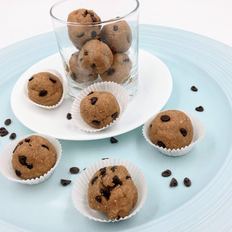 Chocolate Chip Peanut Butter Cookie Dough Protein Bites