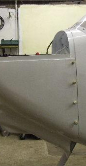 Another view of the cowling lined up ready for final fixing