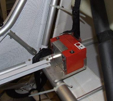 Battery box fitted behind the passengers seat