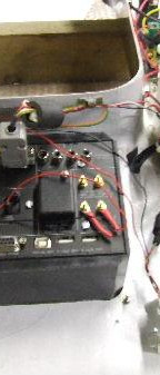 The wiring loom had to be adjusted to take the Enigma