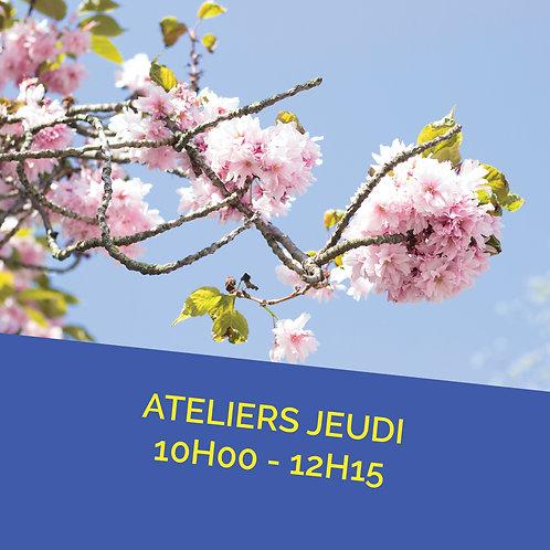 Atelier jeudi 10 mars de 10h00 à 12h15