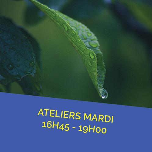 Atelier mardi 16 novembre de 16h45 à 19h00