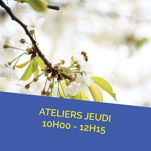 Atelier jeudi 7 avril de 10h00 à 12h15