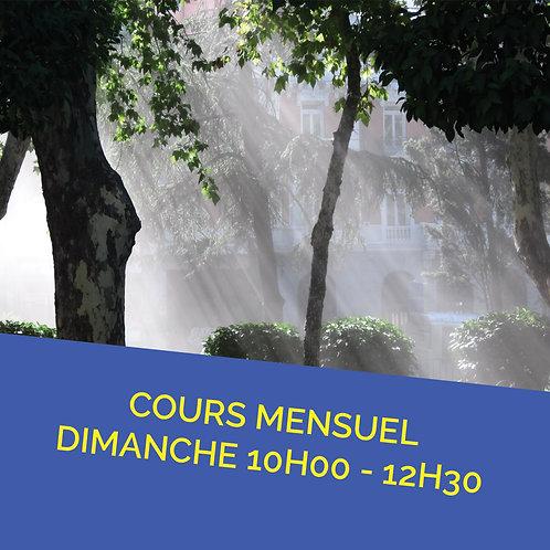 Pré inscription à l'année Cours Grenoble Dimanche 10H - 12H30