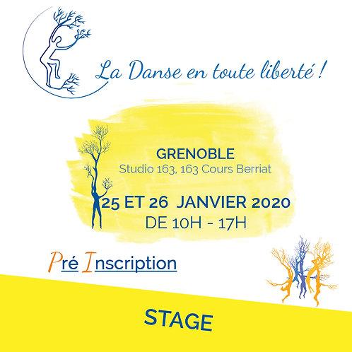 Pré inscription Stage Grenoble Les 25 et 26 Janvier 10H - 17H