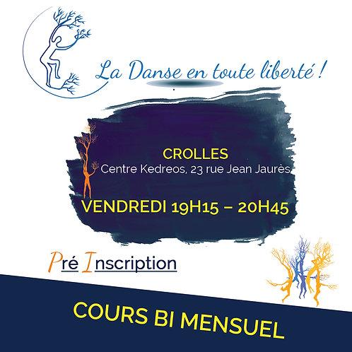 Pré inscription Cours Crolles Vendredi 19H15 - 20H45