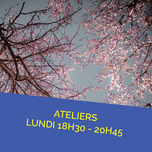 Inscription Atelier lundi 13 décembre de 18h30 à 20h45