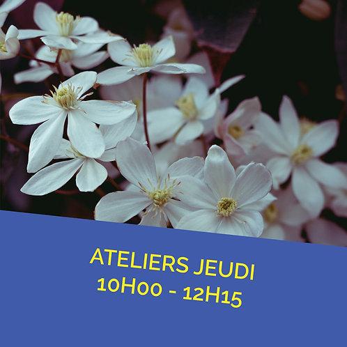 Atelier jeudi 5 mai de 10h00 à 12h15
