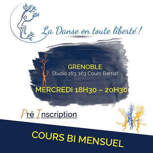 Pré inscription Cours Grenoble Mercredi 18H30 – 20H30